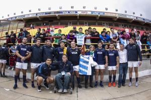 06.06.2014. Argentina Captains run, Test Match Argentina vs Ireland during the Internationa friendly match at Estadio Centenario, Resistencia, Chaco, Argentina.